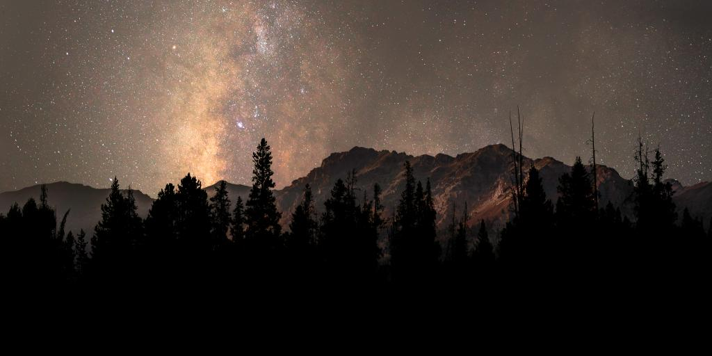 Milky Way over the mountains in Sun Valley, Idaho