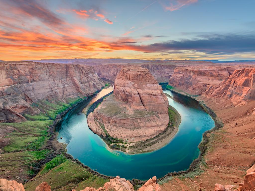 Colorado River flows through the Horseshoe Bend upstream from Grand Canyon National Park