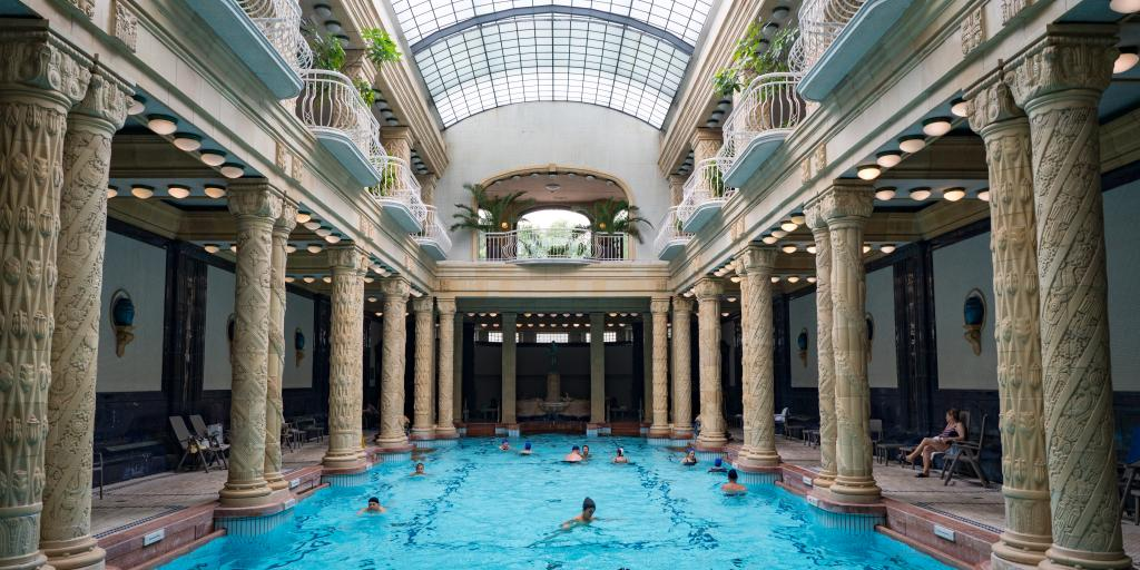 Swimming pool at Gellert Thermal Baths, Budapest