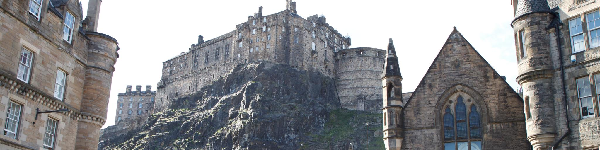 The view of Edinburgh Castle from Grassmarket is one of the most iconic in the city