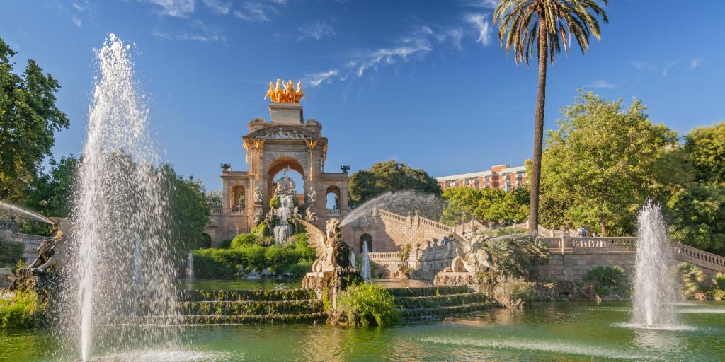 Fountains in Parc de la Ciutadella in Barcelona, Spain