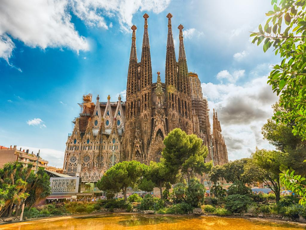 The iconic Sagrada Familia cathedral in Barcelona