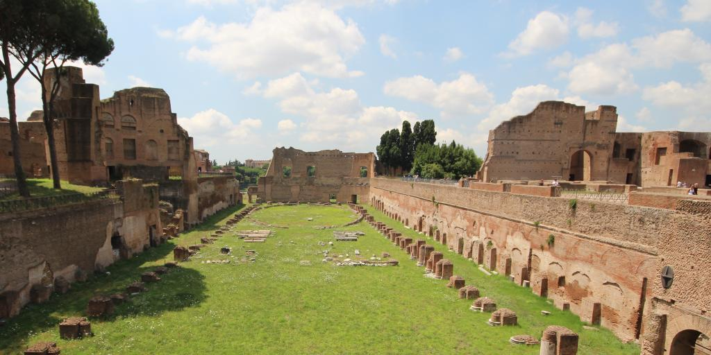 The ruins of the Hippodrome of Domitian on Paletine Hill
