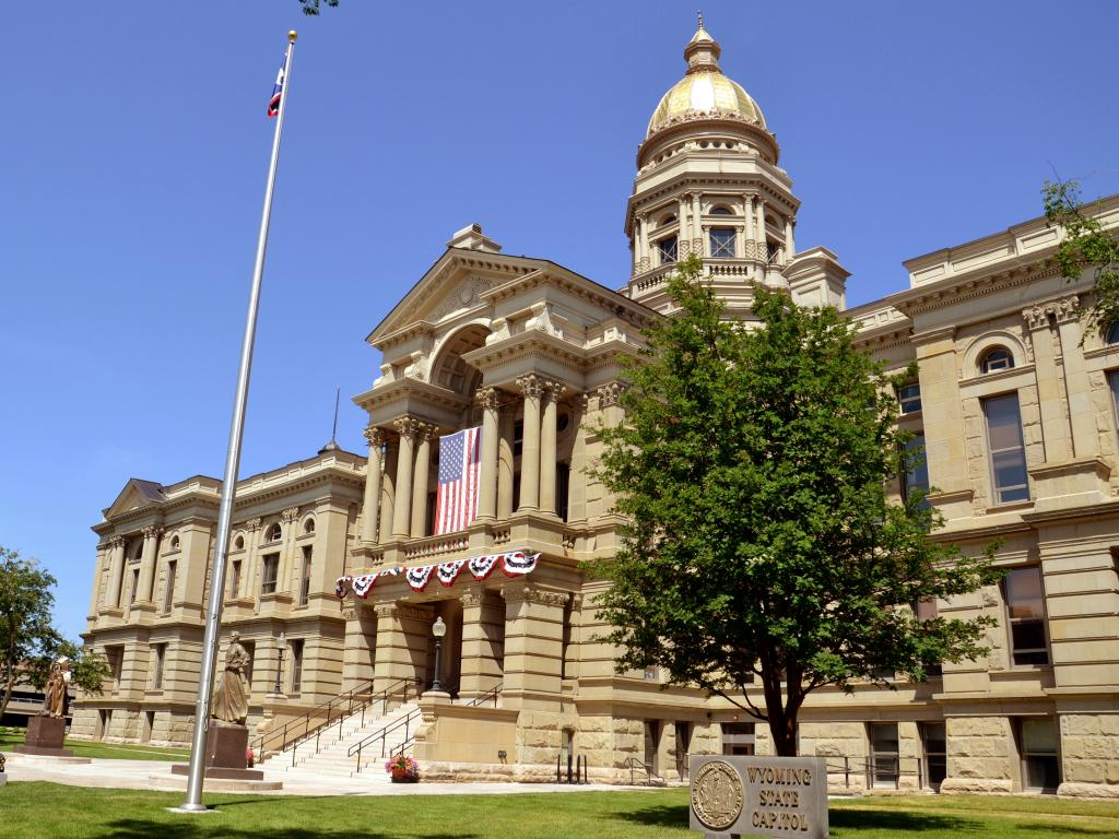 State Capitol Building in Cheyenne, Wyoming on a sunny day