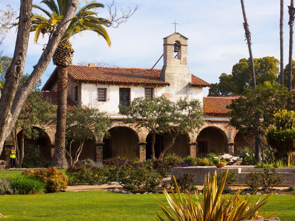San Juan Capistrano Mission and gardens, California