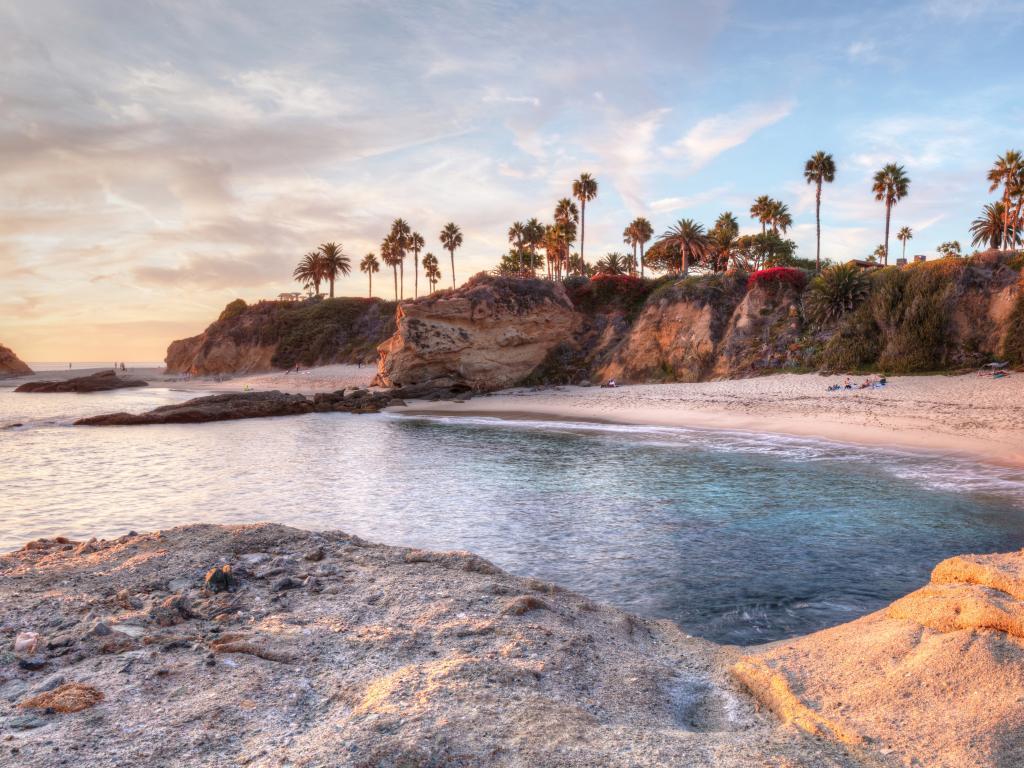 The natural cove of Treasure Island Beach in Laguna Beach, California