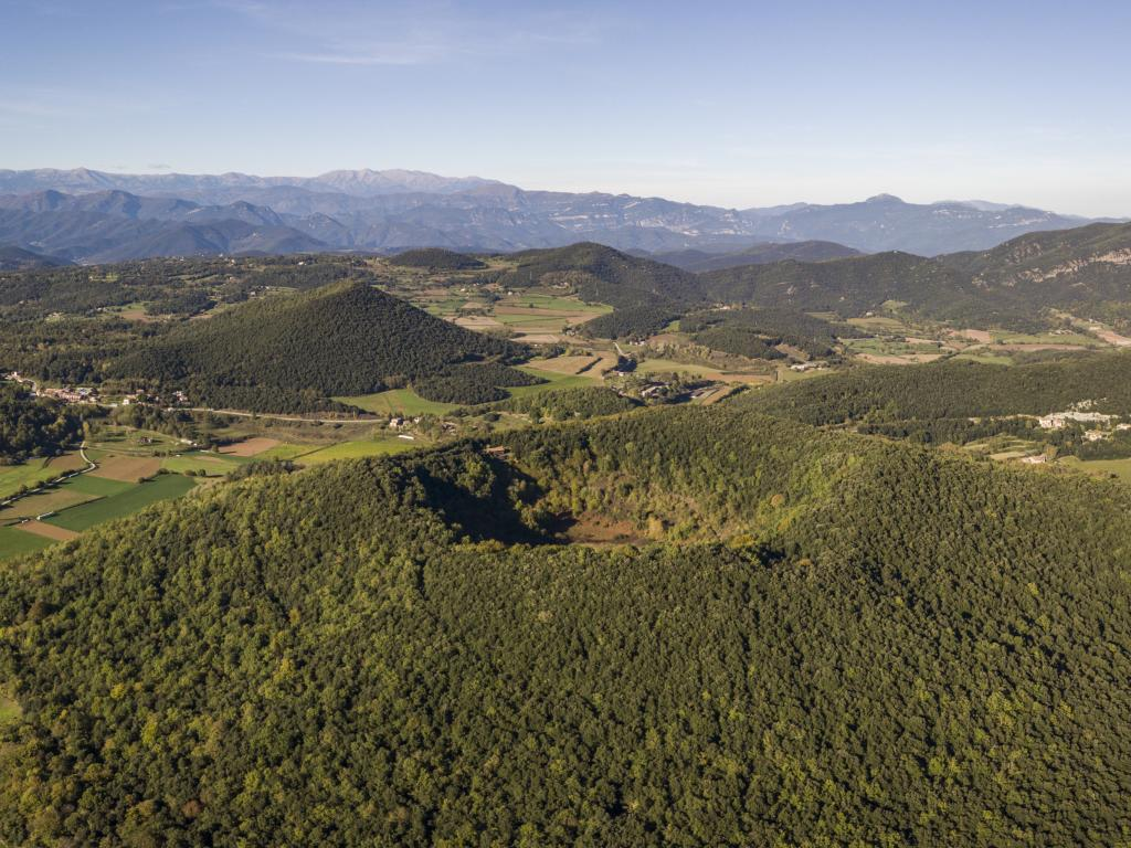 Garrotxa Volcanic Zone Natural Park and Santa Margarida Volcano, Spain