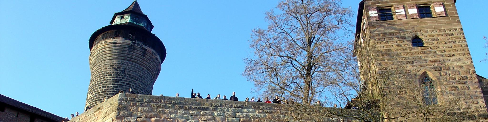 Low-level shot of Nuremberg Castle, Germany