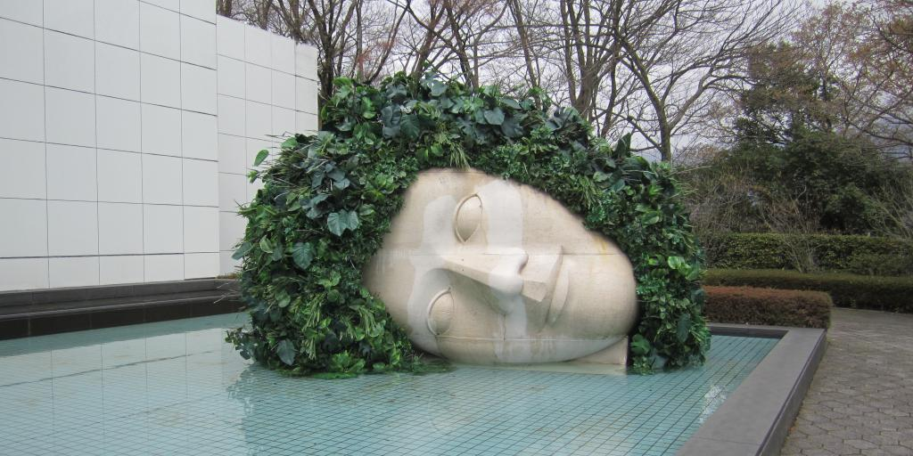 Face sculpture at Hakone Open-Air Museum, Japan