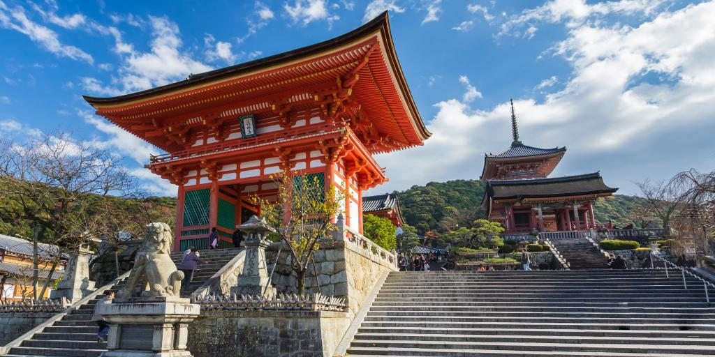 The gate into Kiyomizu-dera Temple, Kyoto