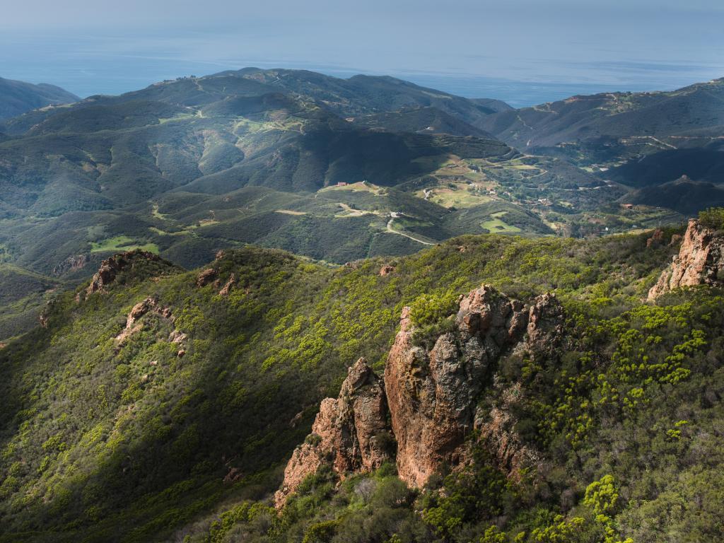Sandstone Peak in the Santa Monica Mountains National Recreation Area, near Los Angeles