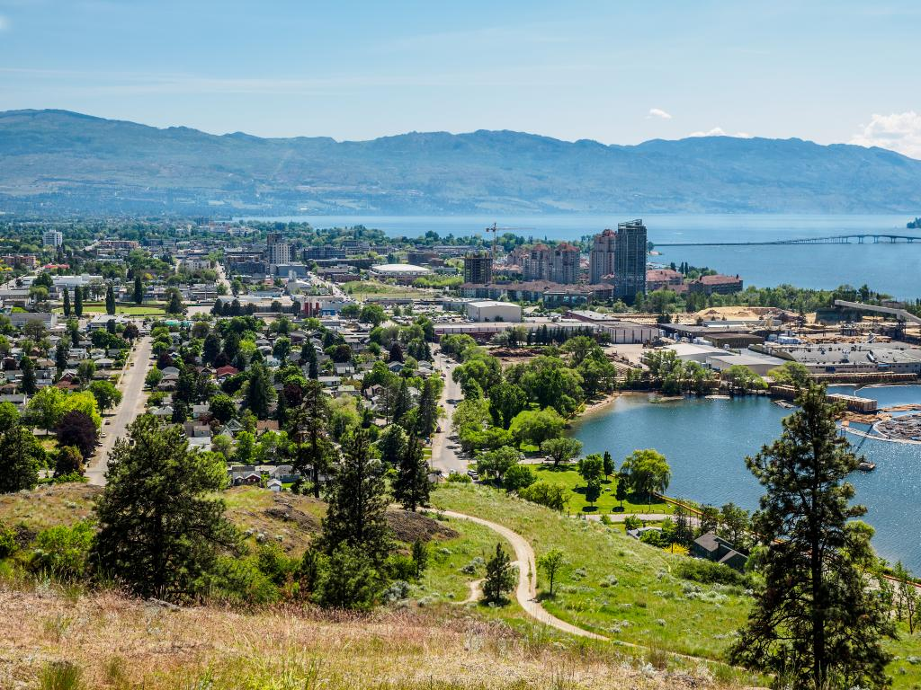 Kelowna, British Columbia, Canada, on the Okanagan lake