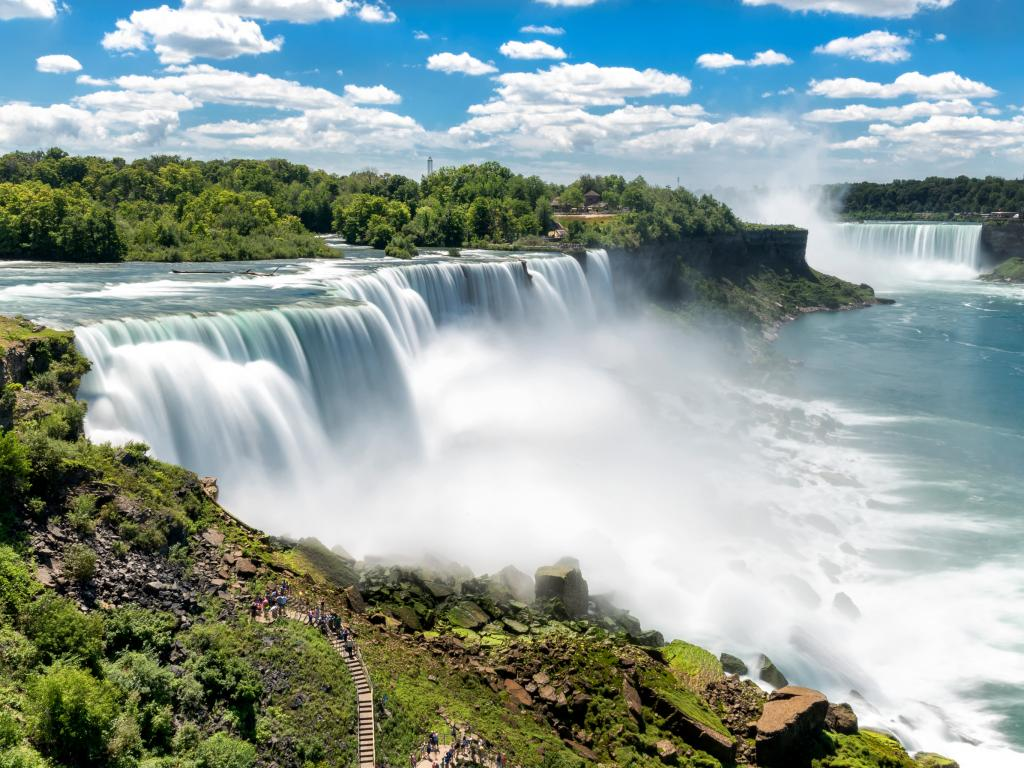 Spectacular Niagara Falls between USA and Canada less than 2 hours' road trip from Toronto