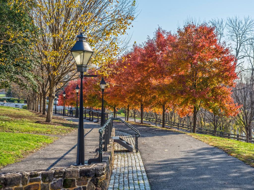 Park Avenue in historic Smithtown in Burlington County New Jersey