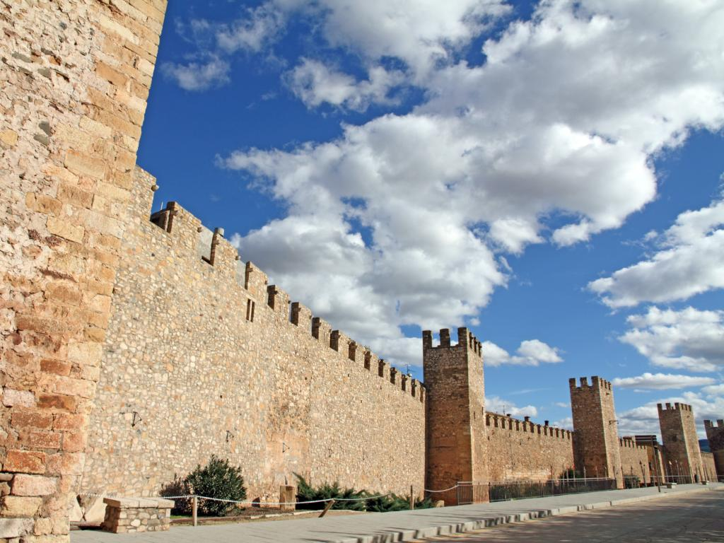 City walls of Montblanc - a fortress city in Catalonia, Spain