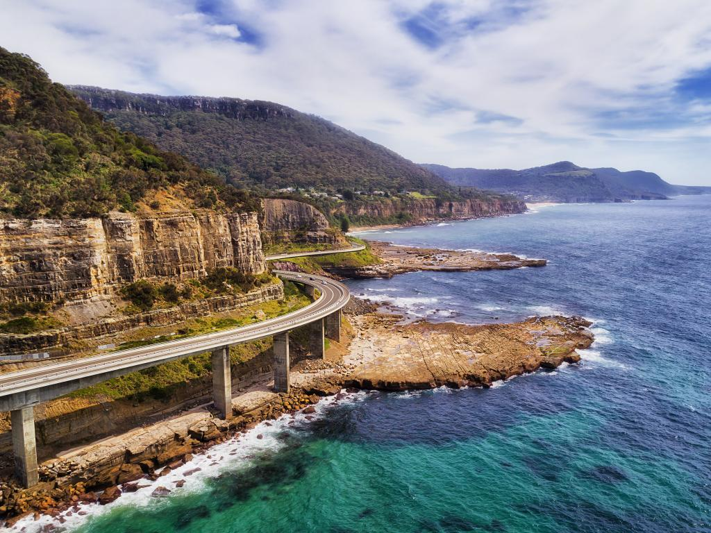 The stunning Sea Cliff Bridge along the Grand Pacific Drive in New South Wales, Australia