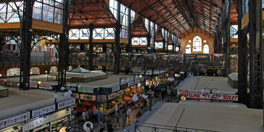 People browsing at Central Market Hall, Budapest