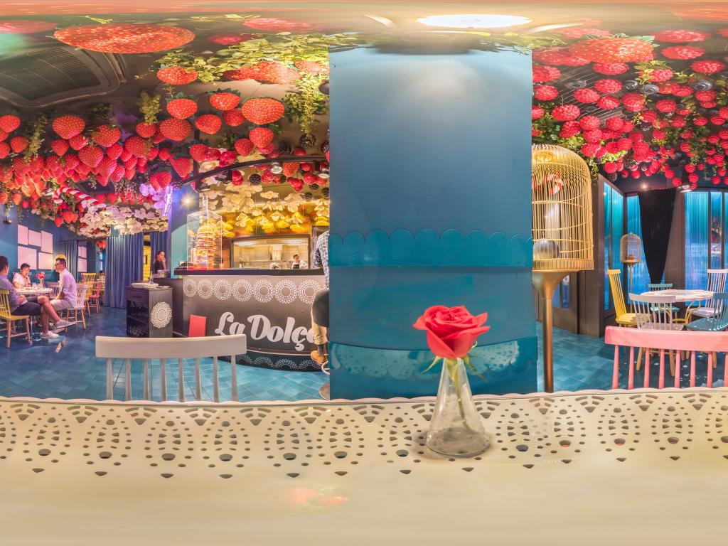 La Dolca dessert restaurant, attached to the famous Tickets restaurant in Barcelona