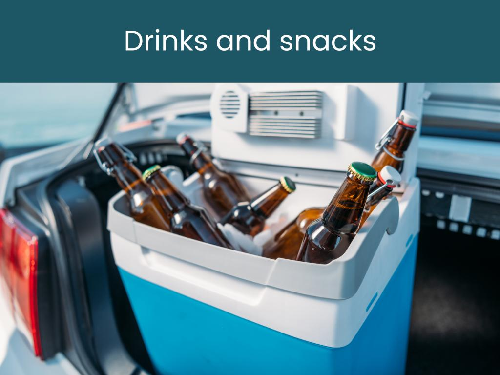 Drinks and snacks for your road trips - what you need in the car