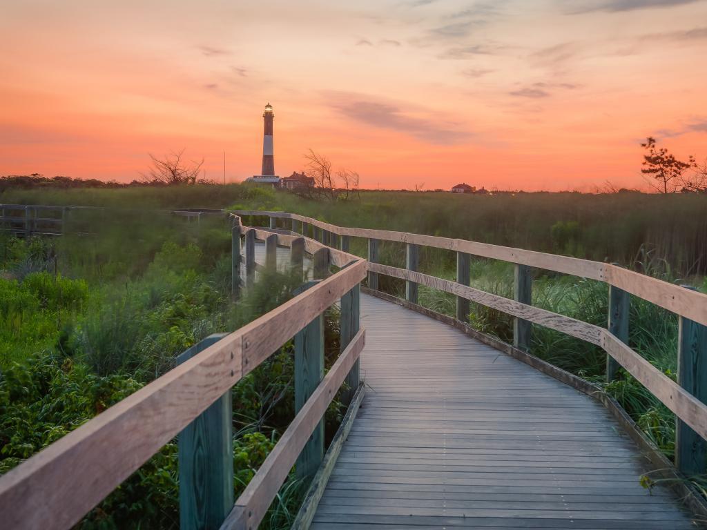 Fire Island Lighthouse at Sunrise, just off Long Island, New York