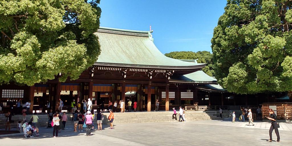 One of the buildings of the Meiji Shrine, Tokyo