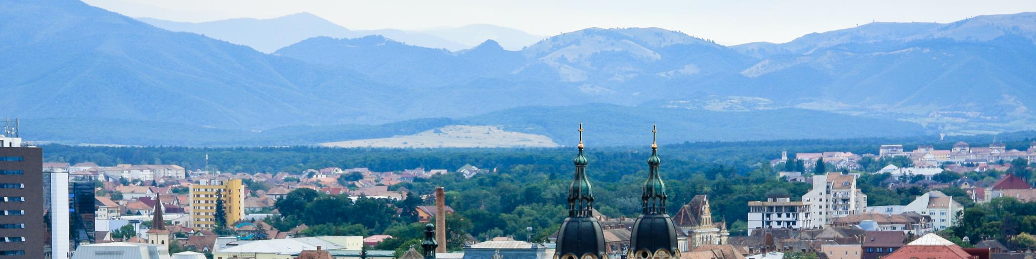 The Holy Trinity Cathedral is one of the most distinctive landmarks in Sibiu, Romania