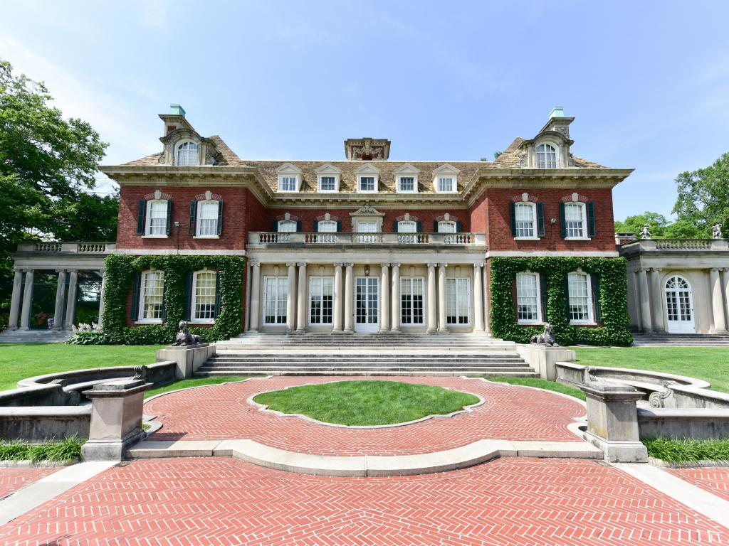 The historic mansion and amazing grounds of the Old Westbury Gardens on Long Island, NY