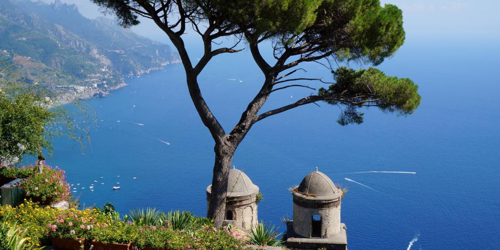 The views in Ravello, Italy