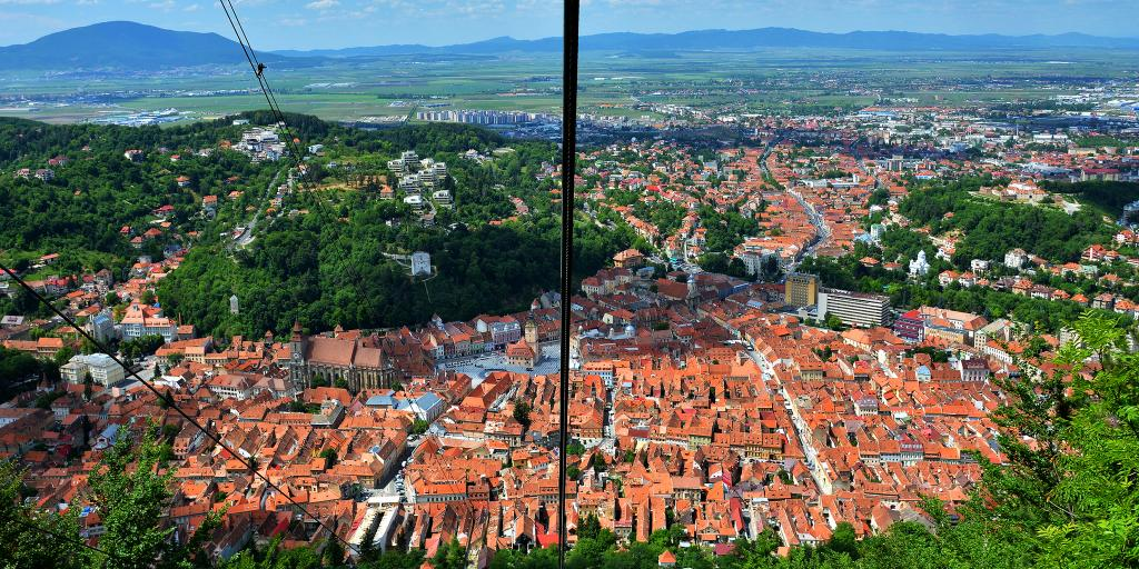 The view from the cable car up Tampa Mountain, Brasov