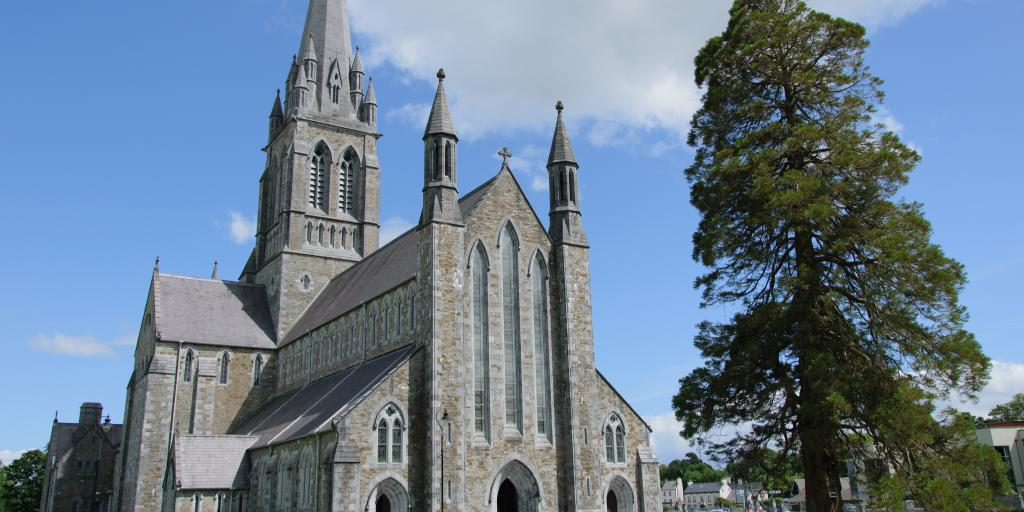 St Mary's Cathedral on a sunny day in Killarney, Ireland