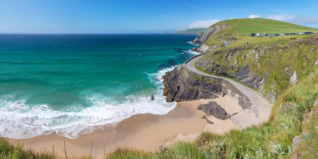 A sandy beach between Slea Head and Dunmore Head along Ireland's Slea Head Drive