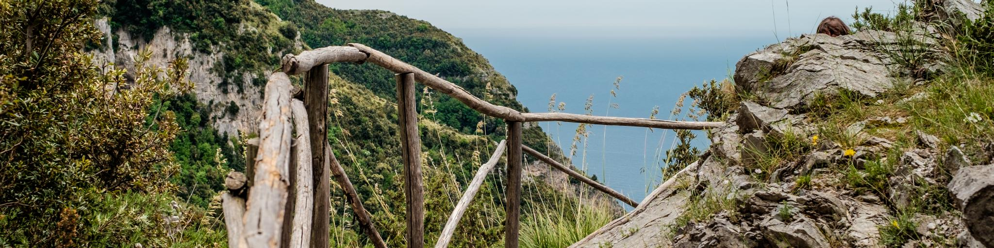 Spectacular sea views and meandering walkways along the Path of the Gods