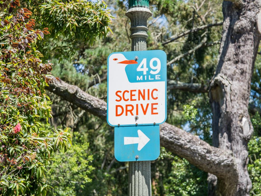 Scenic 49-mile drive in and around San Francisco - sign post