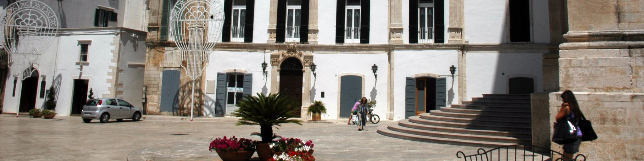The town of Martina Franca in Italy's Puglia region on a sunny day