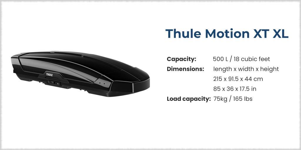 Thule Motion XT XL cargo box - best cargo box on the market