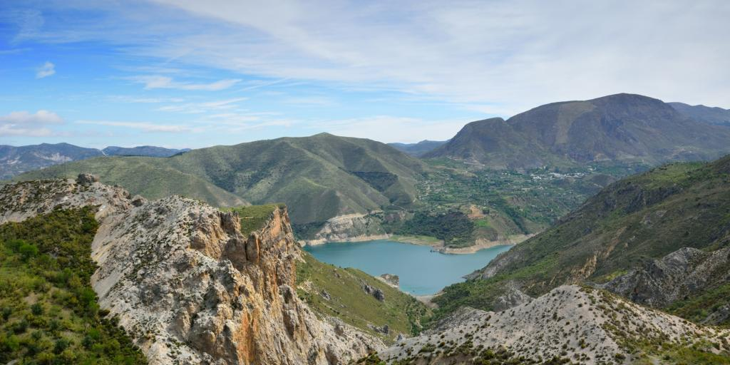 Sierra Nevada mountains and lake in Andalucia