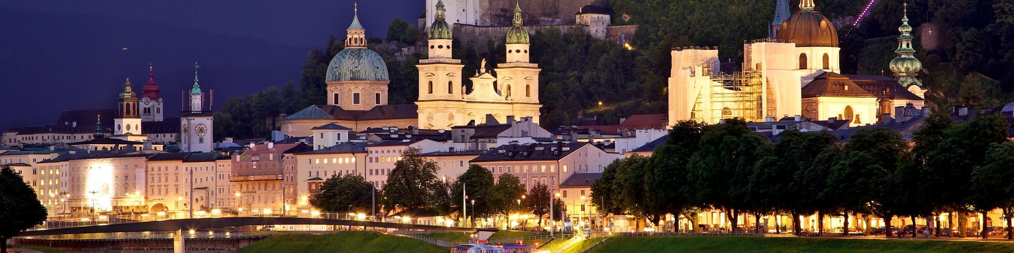 The Old Town in Salzburg, Austria