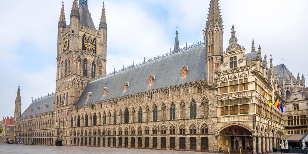 The exterior of Ypres Cloth Hall