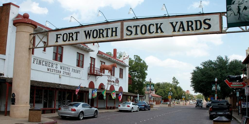 The sign of the Fort Worth Stockyards, Texas