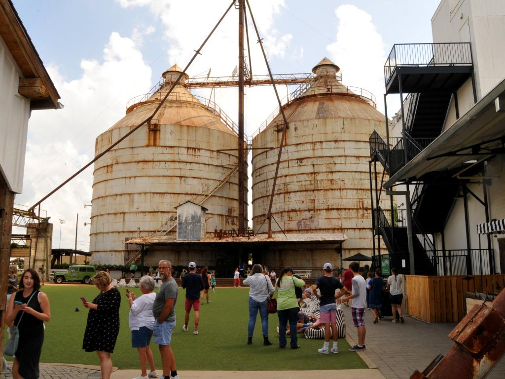 Magnolia Market by the two famous silos in Waco, Texas.