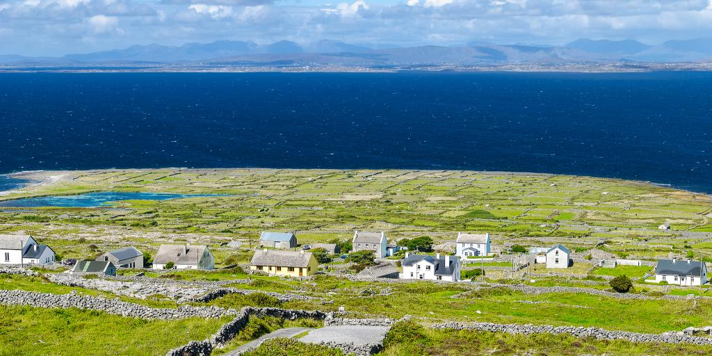 The settlement of Ballinacregga on Inishmore, one of the Aran Islands