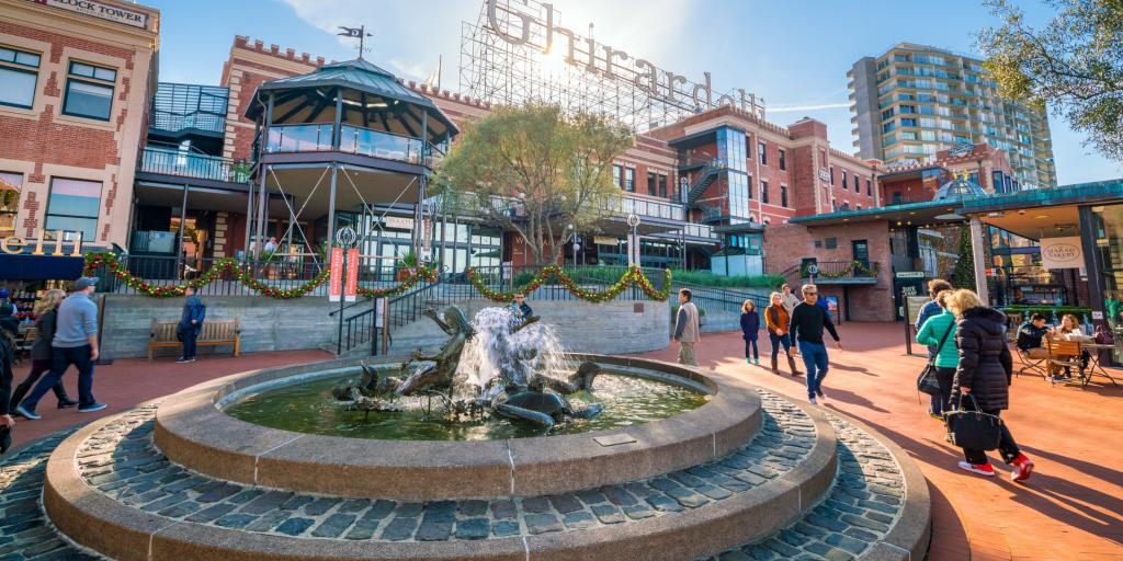 Ghirardelli Square in San Francisco with shops and restaurants