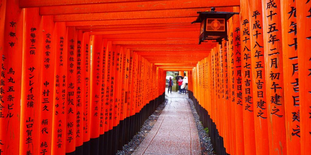 Trail of torii gates at Fushimi Inari Shrine, Kyoto