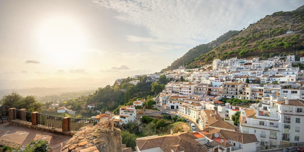 Beautiful sunset view from Mijas in Spain's Andalucia