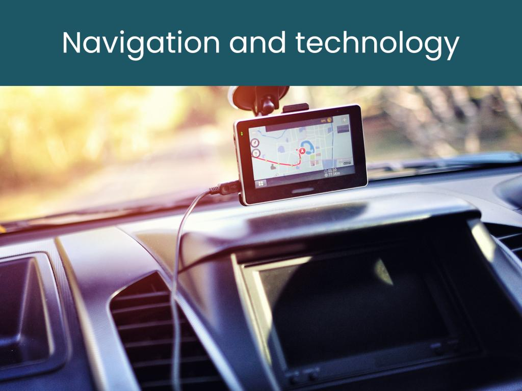 Navigation and technology for road trips