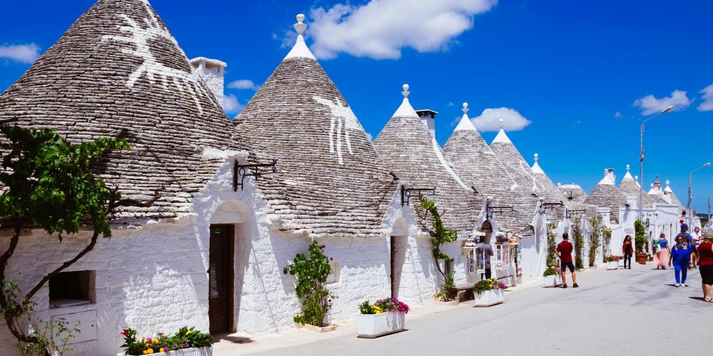 A row of Trulli in Alberobello, Puglia