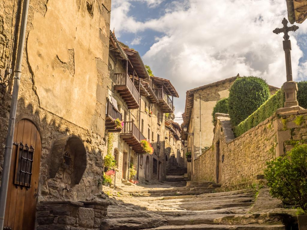 Medieval village of Rupit in the mountains north of Barcelona