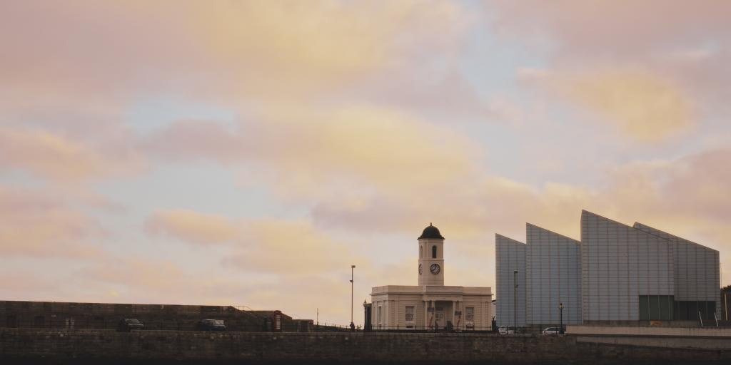 Candy floss skies over the Turner Contemporary gallery and the Margate Visitor Centre