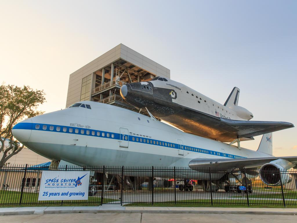 The space shuttle at Independence Plaza in Space Center near Houston, Texas
