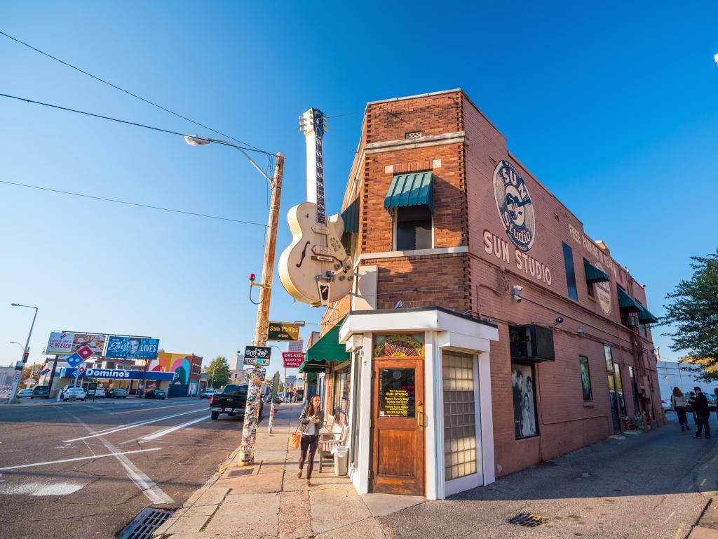 Sun Studio in Memphis where greats like Elvis Presley recorded their music